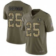Nike 49ers -25 Richard Sherman Olive Camo Stitched NFL Limited 2017 Salute To Service Jersey