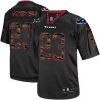 Nike Houston Texans #23 Arian Foster Black Men's Stitched NFL Elite Camo Fashion Jersey
