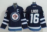 Winnipeg Jets -16 Andrew Ladd Stitched Dark Blue 2011 Style NHL Jersey