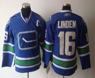 Vancouver Canucks -16 Trevor Linden Blue Third Stitched NHL Jersey