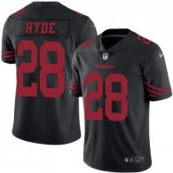 Nike 49ers -28 Carlos Hyde Black Stitched NFL Color Rush Limited Jersey