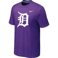 MLB Detroit Tigers Heathered Purple Nike Blended T-Shirt