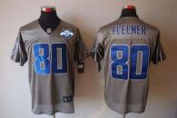 Nike Indianapolis Colts #80 Coby Fleener Grey Shadow With 30TH Seasons Patch Men's Stitched NFL Elit
