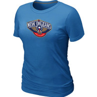 New Orleans Pelicans Big Tall Primary Logo Women T-Shirt (7)