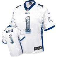 Nike Indianapolis Colts #1 Pat McAfee White Men's Stitched NFL Elite Drift Fashion Jersey