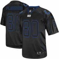 Nike Indianapolis Colts #80 Coby Fleener Lights Out Black Men's Stitched NFL Elite Jersey