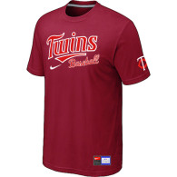 Minnesota Twins Red Nike Short Sleeve Practice T-Shirt