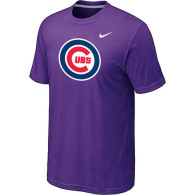 Chicago Cubs Nike Heathered Purple Club Logo  T-Shirt