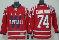 Washington Capitals -74 John Carlson 2015 Winter Classic Red Stitched NHL Jersey