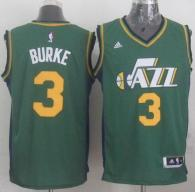 Revolution 30 Utah Jazz -3 Trey Burke Green Stitched NBA Jersey