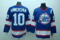 Winnipeg Jets -10 Dale Hawerchuk Stitched Blue CCM Throwback NHL Jersey