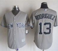 New York Yankees -13 Alex Rodriguez Grey New Cool Base Stitched MLB Jersey