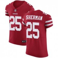 Nike 49ers -25 Richard Sherman Red Team Color Stitched NFL Vapor Untouchable Elite Jersey