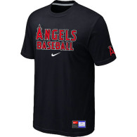 Los Angels of Anaheim Black Nike Short Sleeve Practice T-Shirt