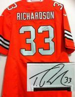 Nike Cleveland Browns -33 Trent Richardson Orange Alternate Men's Stitched NFL Elite Autographed Jer