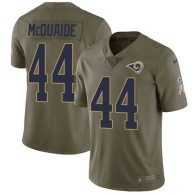 Nike Rams -44 Jacob McQuaide Olive Stitched NFL Limited 2017 Salute to Service Jersey