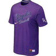 MLB Kansas City Royals Purple Nike  Short Sleeve Practice T-Shirt