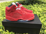 "Authentic Air Jordan 5 GS ""Red Suede"""