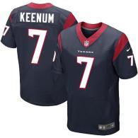 Nike Houston Texans #7 Case Keenum Navy Blue Team Color Men's Stitched NFL Elite Jersey