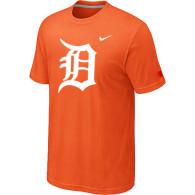 MLB Detroit Tigers Heathered Orange Nike Blended T-Shirt