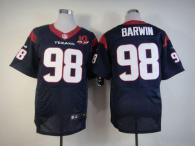 Nike Houston Texans #98 Connor Barwin Navy Blue Team Color With 10th Patch Men's Stitched NFL Elite