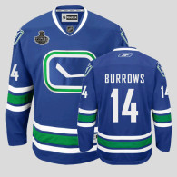Vancouver Canucks 2011 Stanley Cup Finals -14 Alexandre Burrows Blue Third Stitched NHL Jersey