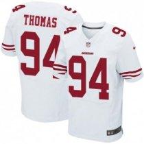 Nike 49ers -94 Solomon Thomas White Stitched NFL Elite Jersey