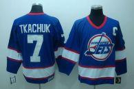 Winnipeg Jets -7 Keith Tkachuk Stitched Blue CCM Throwback NHL Jersey