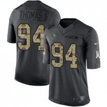 Nike 49ers -94 Solomon Thomas Black Stitched NFL Limited 2016 Salute to Service Jersey