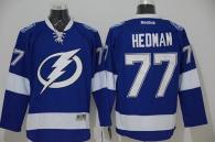 Tampa Bay Lightning -77 Victor Hedman Blue Stitched NHL Jersey