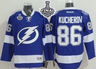 Tampa Bay Lightning -86 Nikita Kucherov Blue 2015 Stanley Cup Stitched NHL Jersey