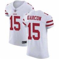 Nike 49ers -15 Pierre Garcon White Stitched NFL Vapor Untouchable Elite Jersey