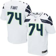 Nike Seahawks -74 George Fant White Stitched NFL Elite Jersey
