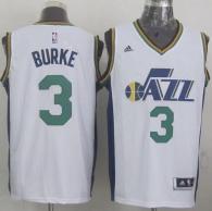 Revolution 30 Utah Jazz -3 Trey Burke White Stitched NBA Jersey