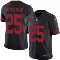 Nike 49ers -25 Richard Sherman Black Stitched NFL Limited Rush Jersey