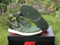"Authentic Air Jordan 1 High OG ""Nike Air""  Olive Canvas"