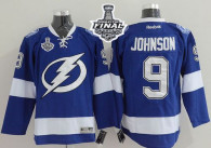 Tampa Bay Lightning -9 Tyler Johnson Blue 2015 Stanley Cup Stitched NHL Jersey
