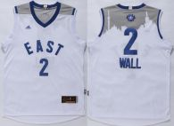 Washington Wizards -2 John Wall White 2016 All Star Stitched NBA Jersey
