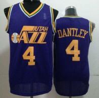 Utah Jazz -4 Adrian Dantley Purple Throwback Stitched NBA Jersey