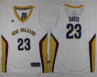 New Orleans Pelicans #23 Anthony Davis White Stitched Youth NBA Jersey