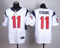 Nike Houston Texans #11 Jaelen Strong White Men's Stitched NFL Elite Jersey