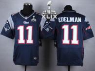 Nike New England Patriots -11 Julian Edelman Navy Blue Team Color Super Bowl XLIX Mens Stitched NFL