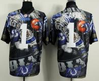 Nike Indianapolis Colts #1 Pat McAfee Team Color Men's Stitched NFL Elite Fanatical Version Jersey