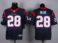 Nike Houston Texans #28 Alfred Blue Navy Blue Team Color Men's Stitched NFL Elite Jersey