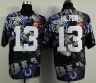 Nike Indianapolis Colts #13 TY Hilton Team Color Men's Stitched NFL Elite Fanatical Version Jersey