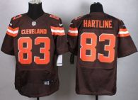 Nike Cleveland Browns -83 Brian Hartline Brown Team Color Men's Stitched NFL New Elite Jersey