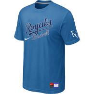 MLB Kansas City Royals light Blue Nike  Short Sleeve Practice T-Shirt