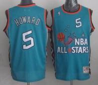 Mitchell And Ness Washington Wizards -5 Juwan Howard Light Blue 1996 All star Stitched NBA Jersey