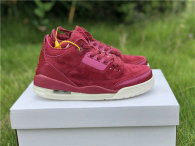 "Authentic Air Jordan 3 GS ""Bordeaux"""