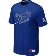 MLB Kansas City Royals Blue Nike  Short Sleeve Practice T-Shirt